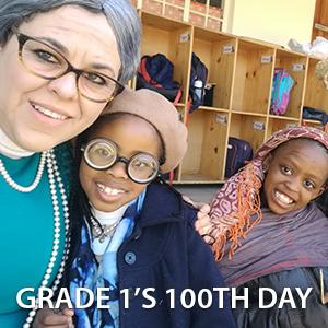 Grade 1's 100th Day